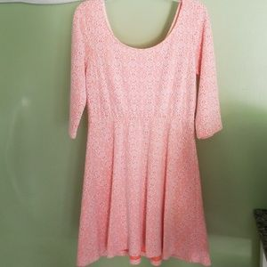Large .Charlotte Russe pink dress.